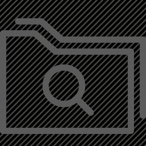 computer, digital, document, folders, search icon
