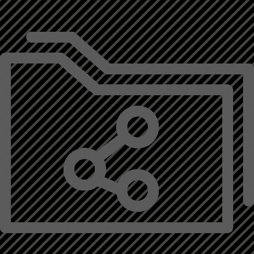 computer, digital, document, folders, share icon