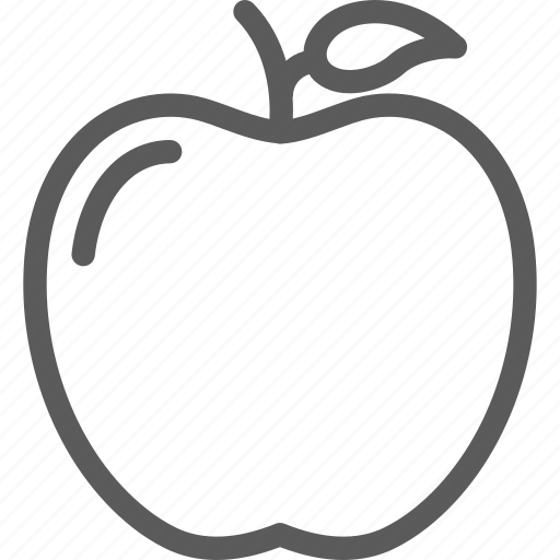 apple, cooking, diet, food, meal, snack icon