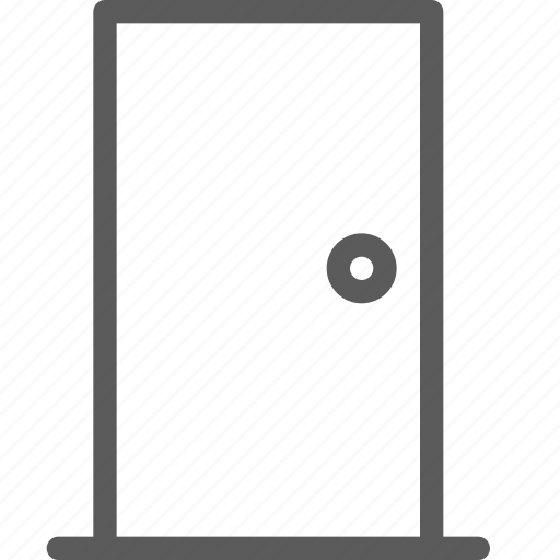 appliance, closed, door, furniture, goods, home, stuff icon