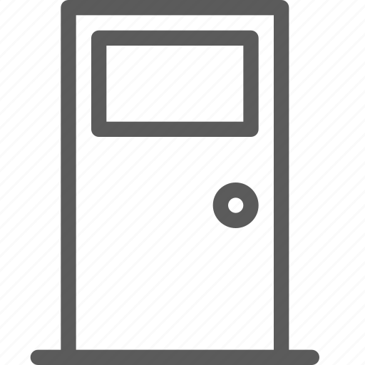 appliance, closed, door, furniture, goods, stuff, window icon