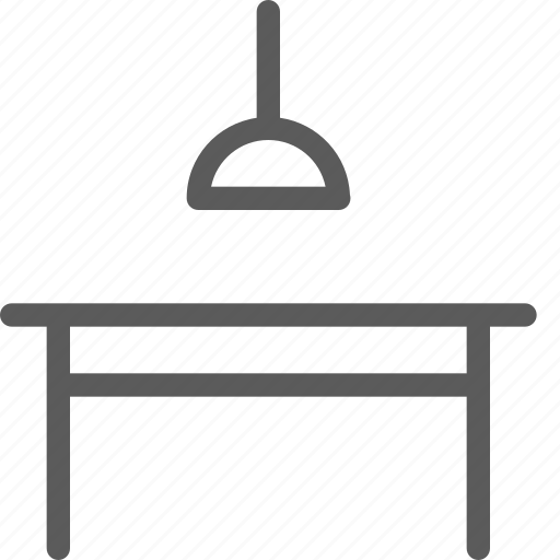appliance, dining, furniture, goods, lamp, stuff, table icon