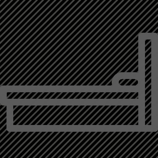 appliance, bed, furniture, goods, profile, single, stuff icon
