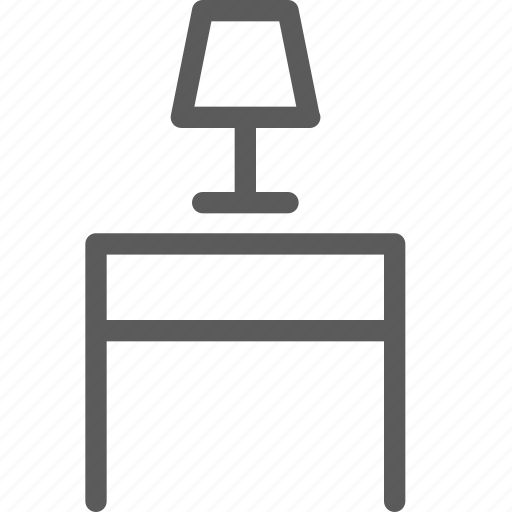 appliance, furniture, goods, home, stuff, table, tablelamp icon