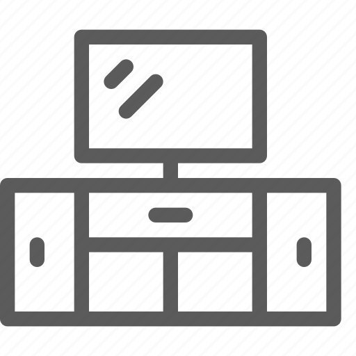 appliance, furniture, goods, home, stand, stuff, tv icon