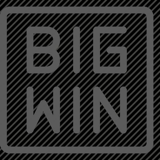 bet, big, casino, gambling, gaming, luck, win icon