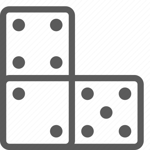 bet, casino, domino, gambling, gaming, luck icon