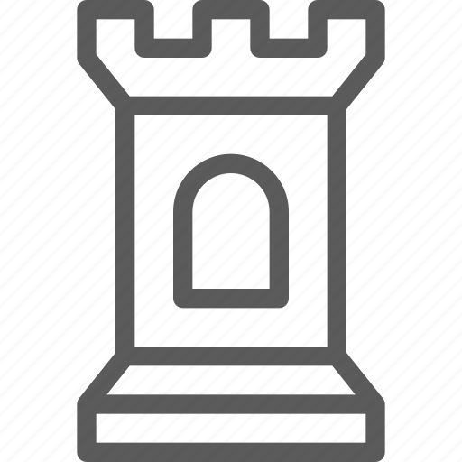 castle, fun, gaming, play, recreation, sport, tower icon