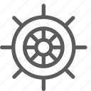 fun, gaming, play, recreation, ship, sport, wheel icon