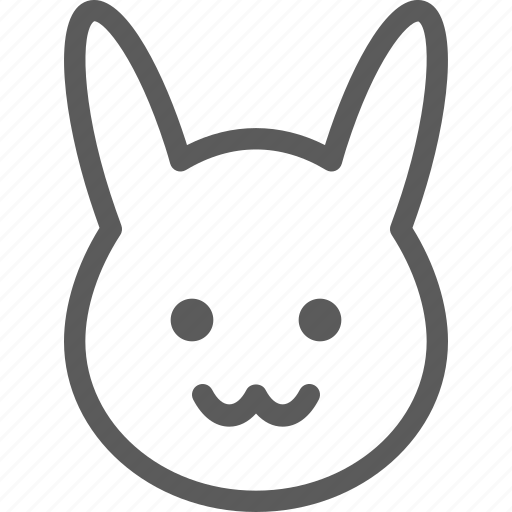 bunny, easter, halloween, holiday, party, religion, scary icon