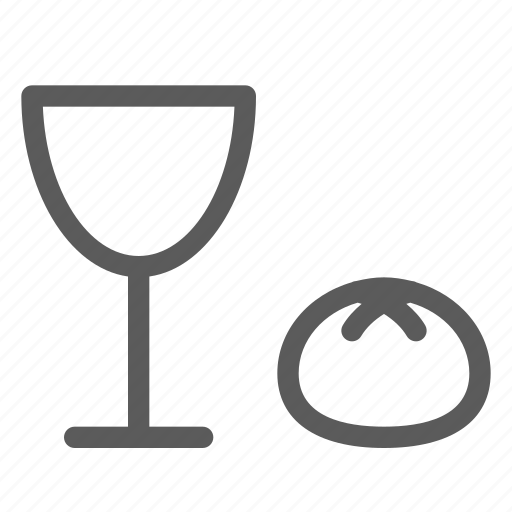 bread, easter, halloween, holiday, party, religion, wine icon