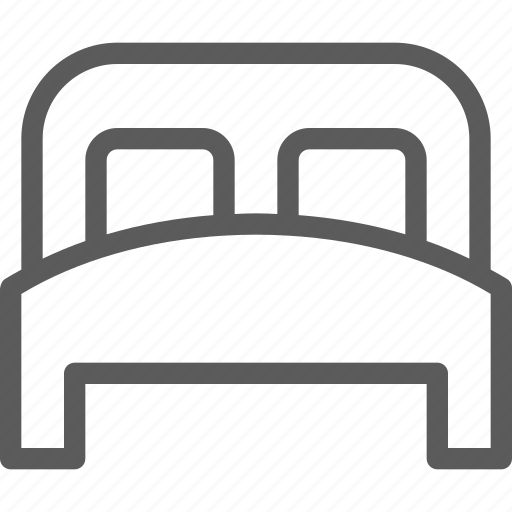bed, double, hostel, hotel, motel, resort, shelter icon
