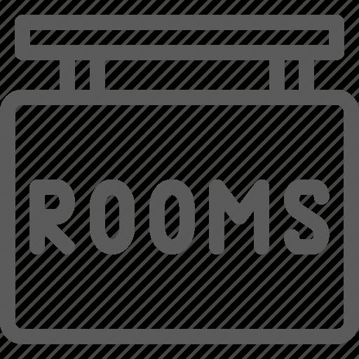 hostel, hotel, motel, resort, rooms, shelter, sign icon