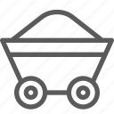 agriculture, corporation, cultivation, industry, loaded, production, trolley icon