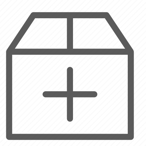 add, box, commercial, logistics, office, organizing, shipping icon