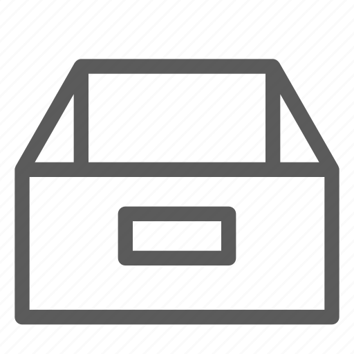 box, commercial, handles, logistics, office, organizing, shipping icon
