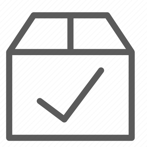 box, commercial, confirm, logistics, office, organizing, shipping icon