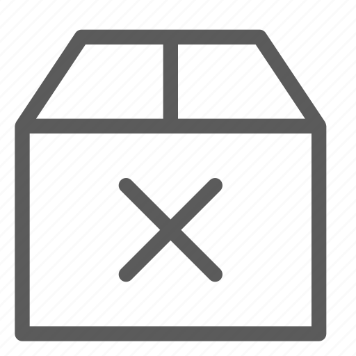 box, commercial, logistics, no, office, organizing, shipping icon