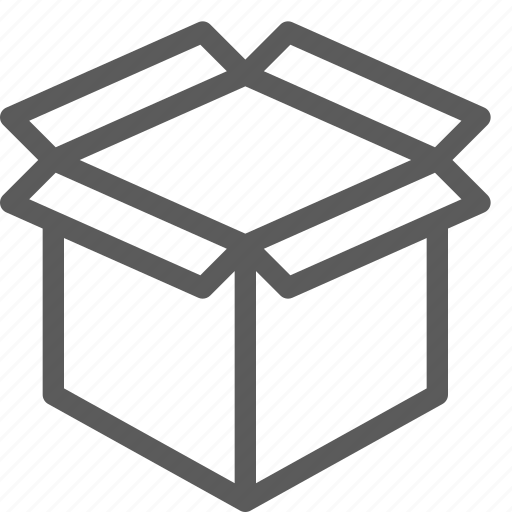 box, commercial, logistics, office, open, organizing, shipping icon