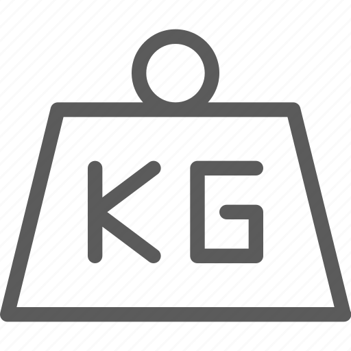 commercial, kg, logistics, office, organizing, shipping, weight icon