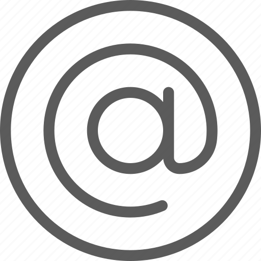 at, communication, internet, letter, mail, post, sign icon