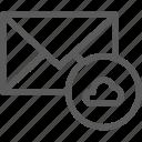 cloud, communication, internet, letter, mail, post icon