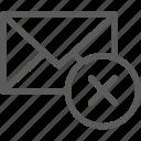 communication, delete, internet, letter, mail, post icon
