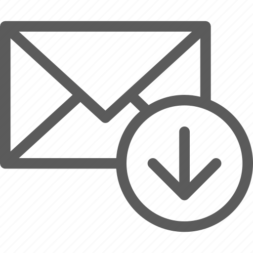 communication, download, internet, letter, mail, post icon