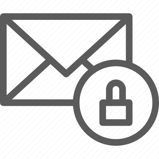 communication, internet, letter, lock, mail, post icon