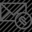 attachment, communication, internet, letter, mail, post icon