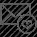 communication, favorites, internet, letter, mail, post icon