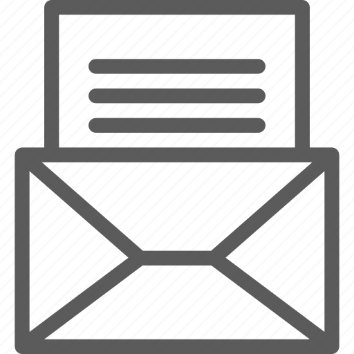 communication, internet, letter, mail, post icon