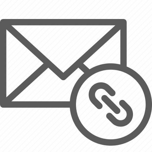 communication, internet, letter, link, mail, post icon