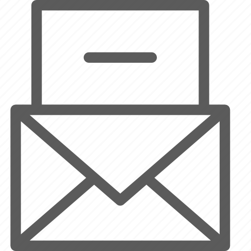 communication, internet, letter, mail, post, remove icon