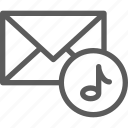 communication, internet, letter, mail, post, sound icon