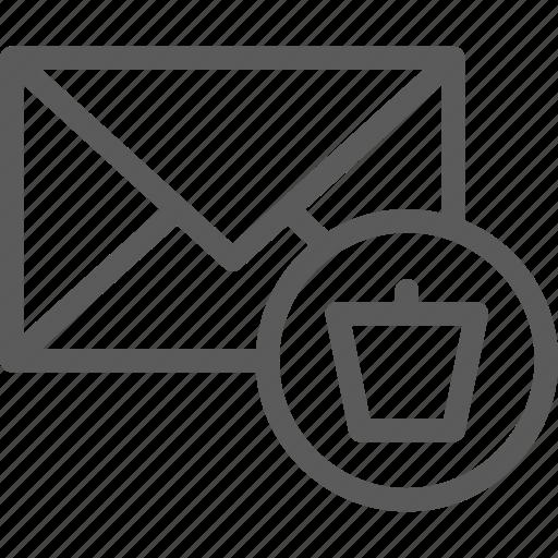 communication, internet, letter, mail, post, trash icon
