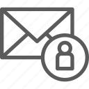 communication, internet, letter, mail, post, user icon