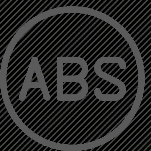 abs, car, fix, mechanic, repair, technician icon