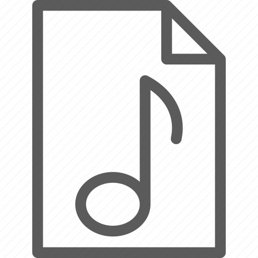 audio, file, melody, music, song, sound icon
