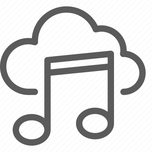 audio, cloud, melody, music, song, sound icon