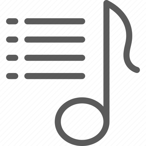 audio, melody, music, playlist, song, sound icon