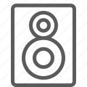 audio, melody, music, song, sound, speaker icon