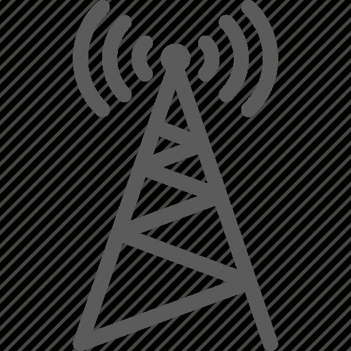 antena, data, net, network, server, signal, web icon