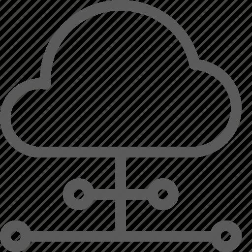 cloud, data, net, network, peers, server, web icon