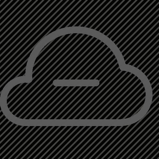 cloud, data, net, network, remove, server, web icon