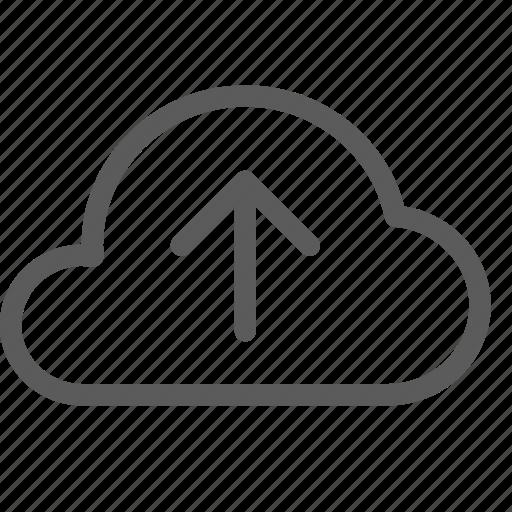 cloud, data, net, network, server, upload, web icon