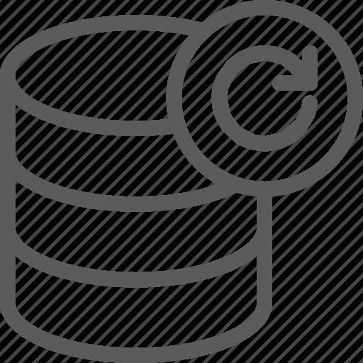 data, database, net, network, refresh, server, web icon
