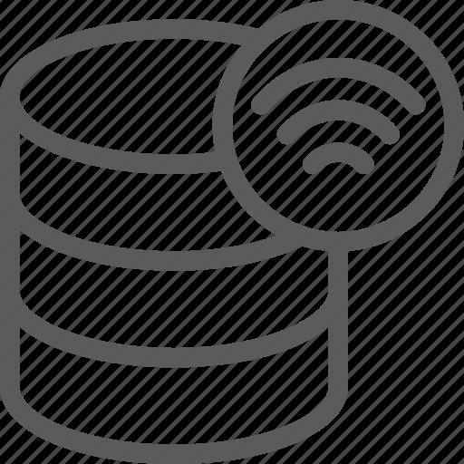 data, database, net, network, server, signal, web icon