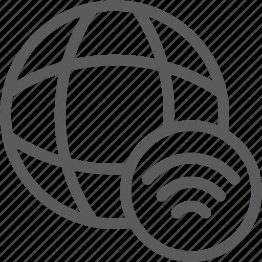data, net, network, server, signal, web icon