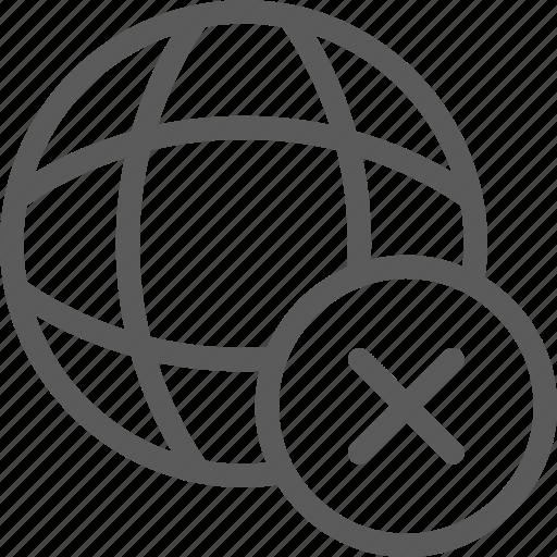 data, net, network, no, server, web icon
